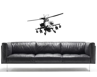 Army helecopter vinyl Wall Art sticker decal graphics decor home