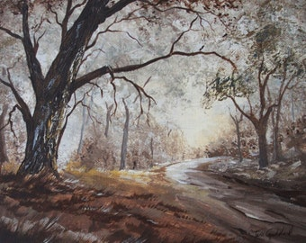 Forest Path in Autumn Card