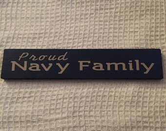 Proud Navy Family wooden sign