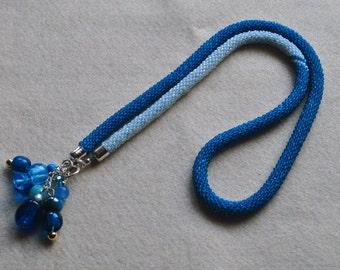 Blue lariat