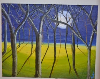 """16"""" X 20"""" Oil on Canvas Painting """"Spring is Coming"""""""