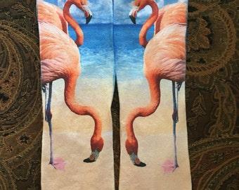 Custom sublimated socks with Flamingos