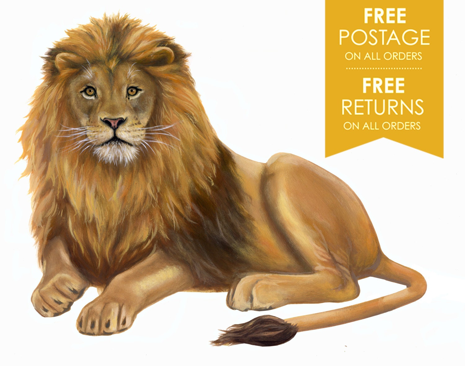 Wall Stickers How To Apply Lion Decal Lion Wall Sticker Lion Wall Decal Hand Painted