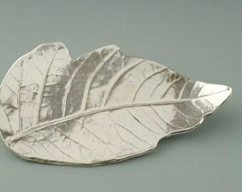 Leaf Brooch, Box Elder, Lost Wax Cast Jewelry