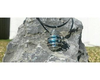 Chalcopyrite Stone Cage Necklace