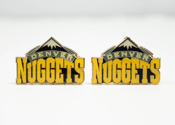 Denver Nuggets Cuff Links -- FREE SHIPPING with USPS First Class Domestic Mail