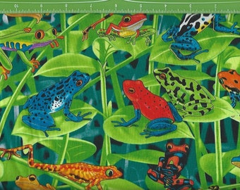 Colorful Frogs in the Grass,Timeless Treasures