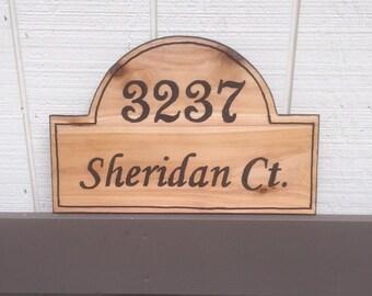 Address Sign, House Number, Address Plaque, Hanging Address Sign, House Number Sign, Street Number Sign