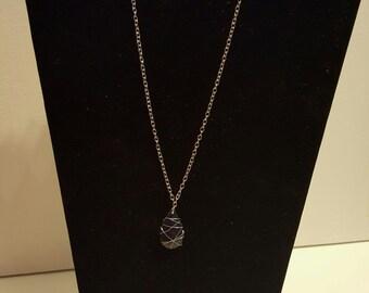 Navy Teardrop Necklace