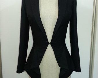 Black Raw Silk Jacket