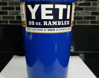 20oz Yeti High Gloss Blue