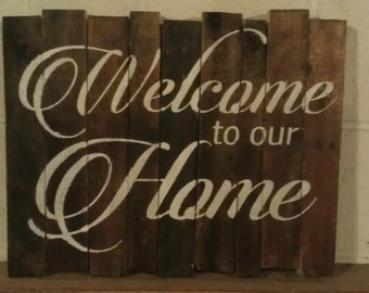 Welcome to our Home wood wall art