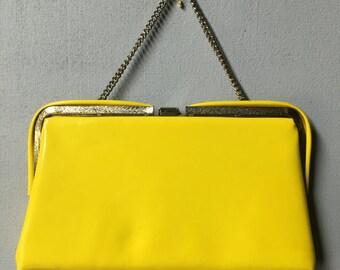 60's Citrus Yellow Handbag