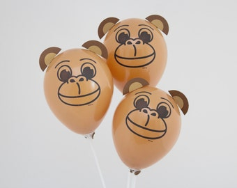 Jungle Animal Party Decorations Mini Balloon Kit - FREE POSTAGE  - 3 Cheeky Monkeys perfect for your Jungle Animal Birthday Party!
