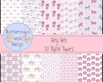 Girly Girl Digital Papers