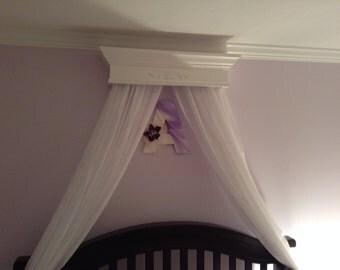 Crib canopy box