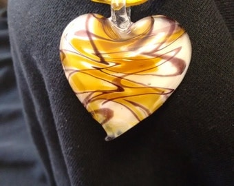 Glass Heart Pendent