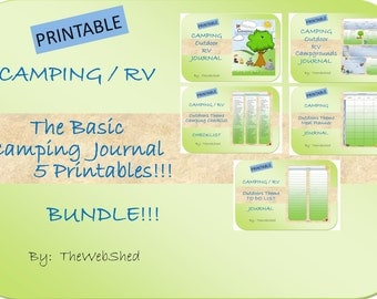 The Basic Camping Journal - Outdoor/Camping Theme - includes 5 printables!  Great for the RVers or the Casual Camping Trips