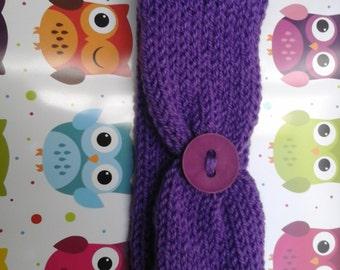 Purple Knitted Headband