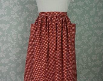 """Orange spotty pocket skirt 32""""~ 33"""""""