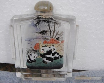 Painted  Bottle  from within chinese