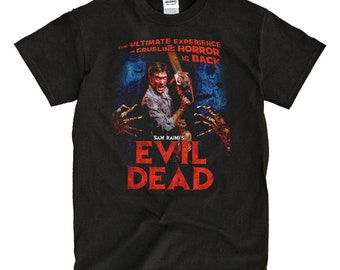Evil Dead Poster Black T-Shirt - High-Quality! Ready to Ship!