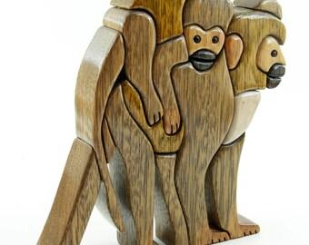 MONKEY - Wood Flair - Wood Sculputure-ANIMALS
