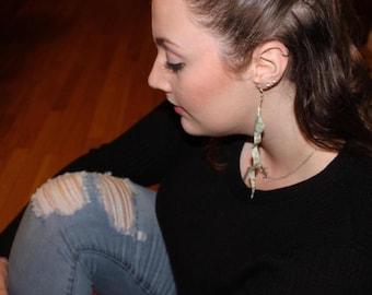 money origami  dollar bill snake  earrings