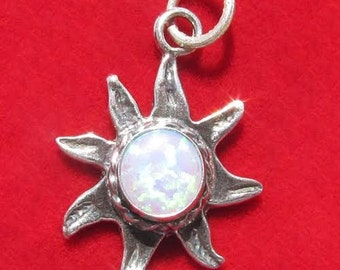 Sterling Silver 925 Sun charm CLEARANCE PRICED!