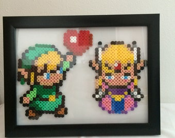 Link and Zelda Perler Bead