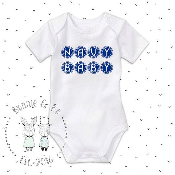 Navy baby onesie sailor baby navy baby navy dad gift us