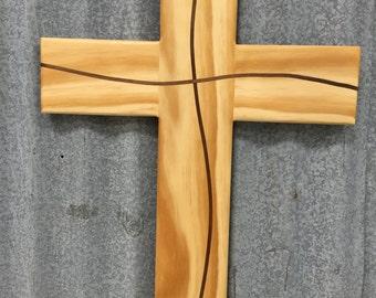 Pine Cross with Walnut