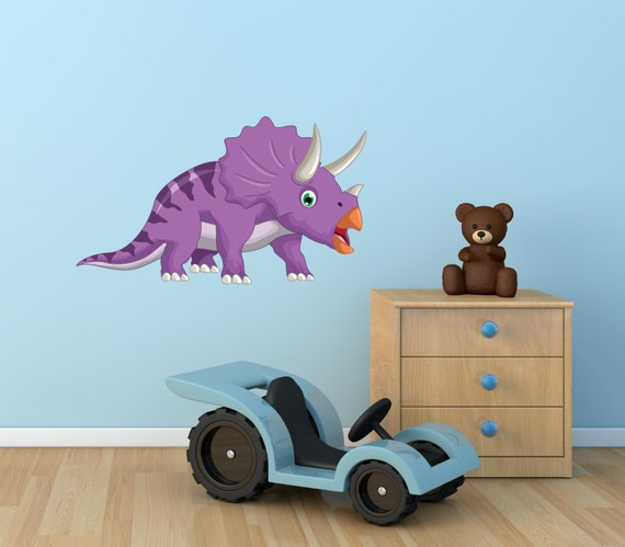 NQR Special: Kids Dinosaur Triceratops Wall Sticker Decal 50cm x 50cm