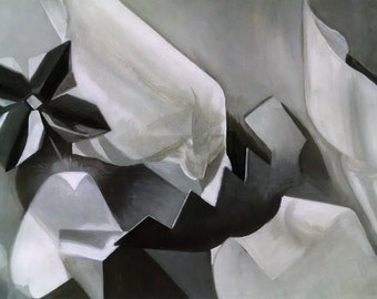Shapes and Forms Oil Painting