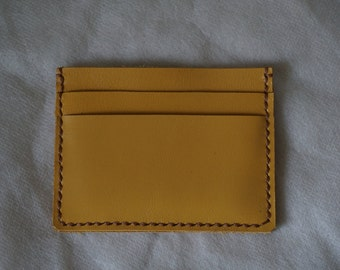 Yellow Leather Card Case