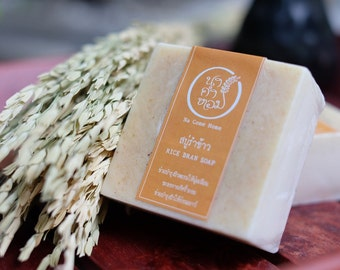 RICE BRAN SOAP - Handmade Soap, Organic Soap, Handcrafted Soap, Natural Soap