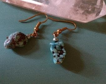 Raw Turquoise Earrings