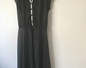 50s Style Polka Dot Summer Dress