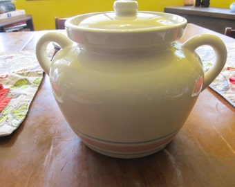 Vintage McCoy Pink and Blue Bean Pot