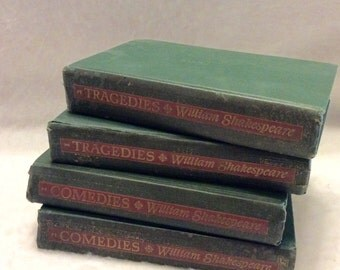 William Shakespeare comedies tragedies set of 4 1944. Free ship to US