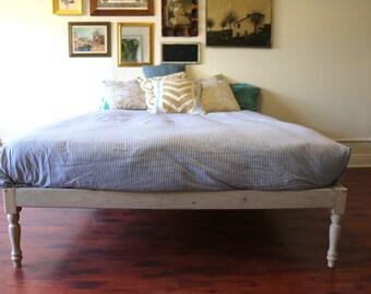 Platform Bed Frame Bohemian Wood Rustic Boutique