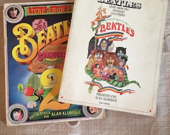 Book-show of songs illustrated the BEATLES Volume 1 of 1969 and 1971 2. By Alan Aldridge. Lot of 2.
