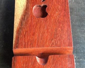 iPad stand made of PADAUK