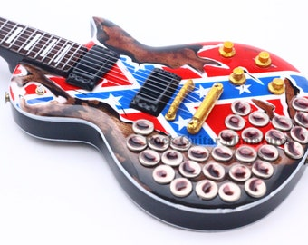 Zakk Wylde Cups the Bottle Miniature Guitar Including Leather Guitar Strap (155)