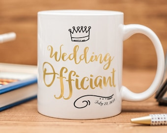 Wedding Officiant mug, personalized Wedding Officiant gift