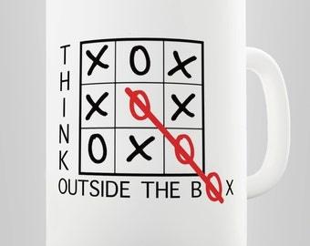 Think Out Of The Box Ceramic Funny Mug