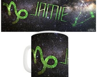 Personalised Galaxy Capricorn Ceramic Novelty Gift Mug