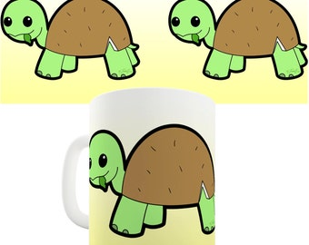 Cute Coconut Turtle Ceramic Novelty Mug