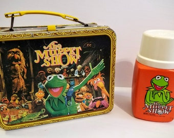 Vintage Lunch Box with Thermos- The Muppet Show, 1978