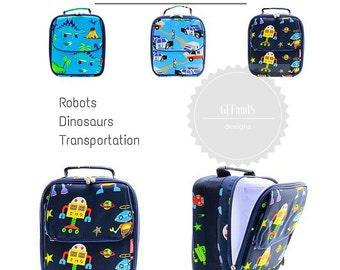 Boys Dinosaur Lunch bag - Personalized lunch bag